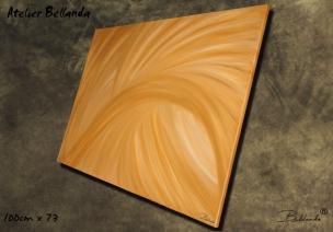 """Torsade Dorée"" Oil on Canvas 100x73cm Price: 300€ + Shipping - Bellanda ®"