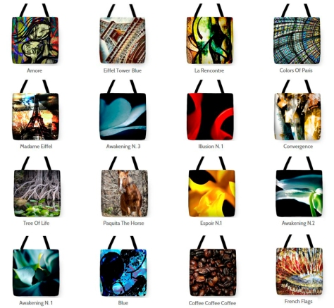 Wearable Art Tote Collection by Bellanda