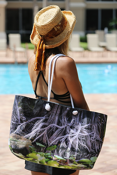 Everglades - Wearable Art Weekender Tote by Bellanda