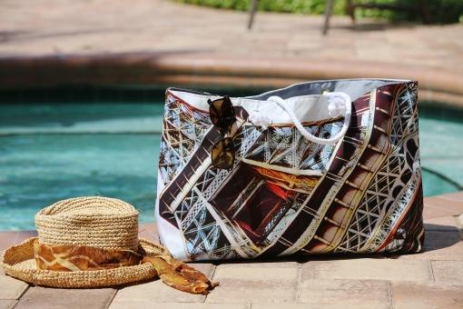 Madame Eiffel - Wearable Art Weekender Tote Bag by Bellanda